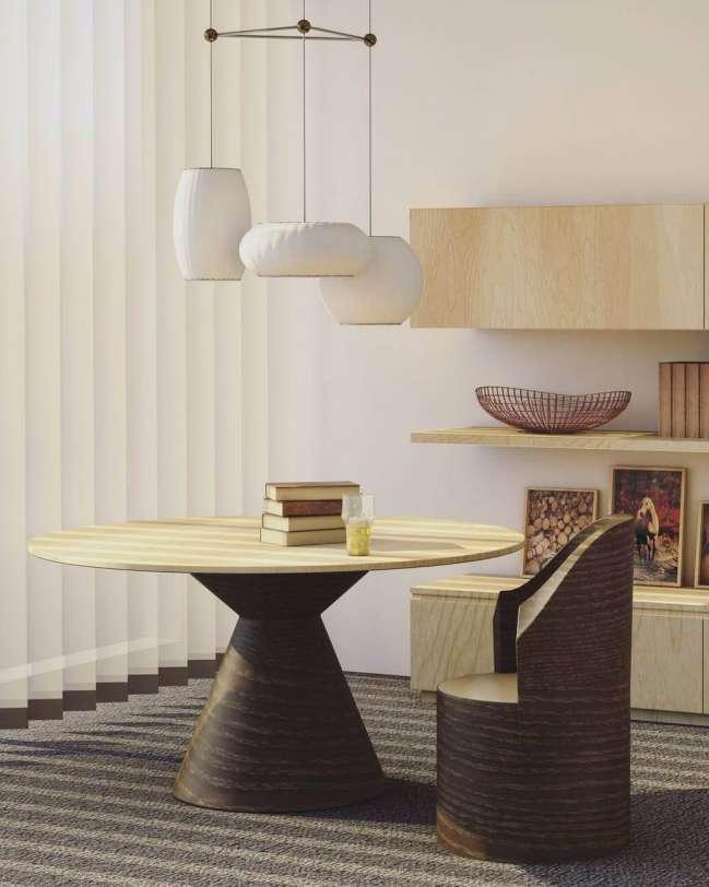 Interior of modern apartment.